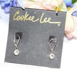 Cookie Lee Dangle Rhinestone Earrings NWT